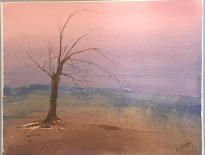 """Living Tree, 15""""x11"""", Watercolor on Paper"""