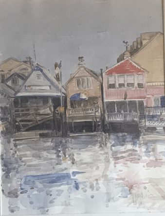 """Harbor Houses, 14x10"""""""
