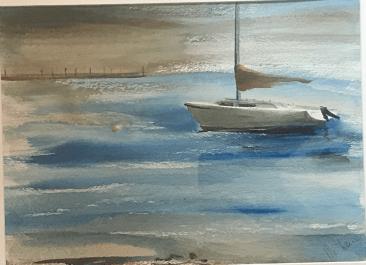 "Sail on Harbor, 15x11"""