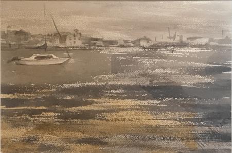 "Neutral Harbor, 14""x10"""